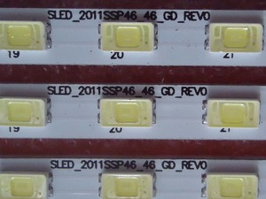 Image 2 - 1 Set=4 Pieces New For Sharp GMF0334 LCD 46LX530A 46LX830A/430A LED TV Backlight Strip SLED_2011SSP46_46_GD_REV0 46 LED 522MM