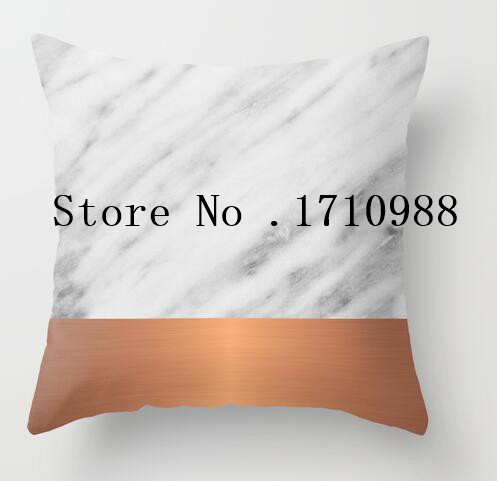 Cool Pillow cases Carrara <font><b>Italian</b></font> Marble Holiday Rose Gold Edition Luxury Printing Square Zippered Pillowcase free shipping