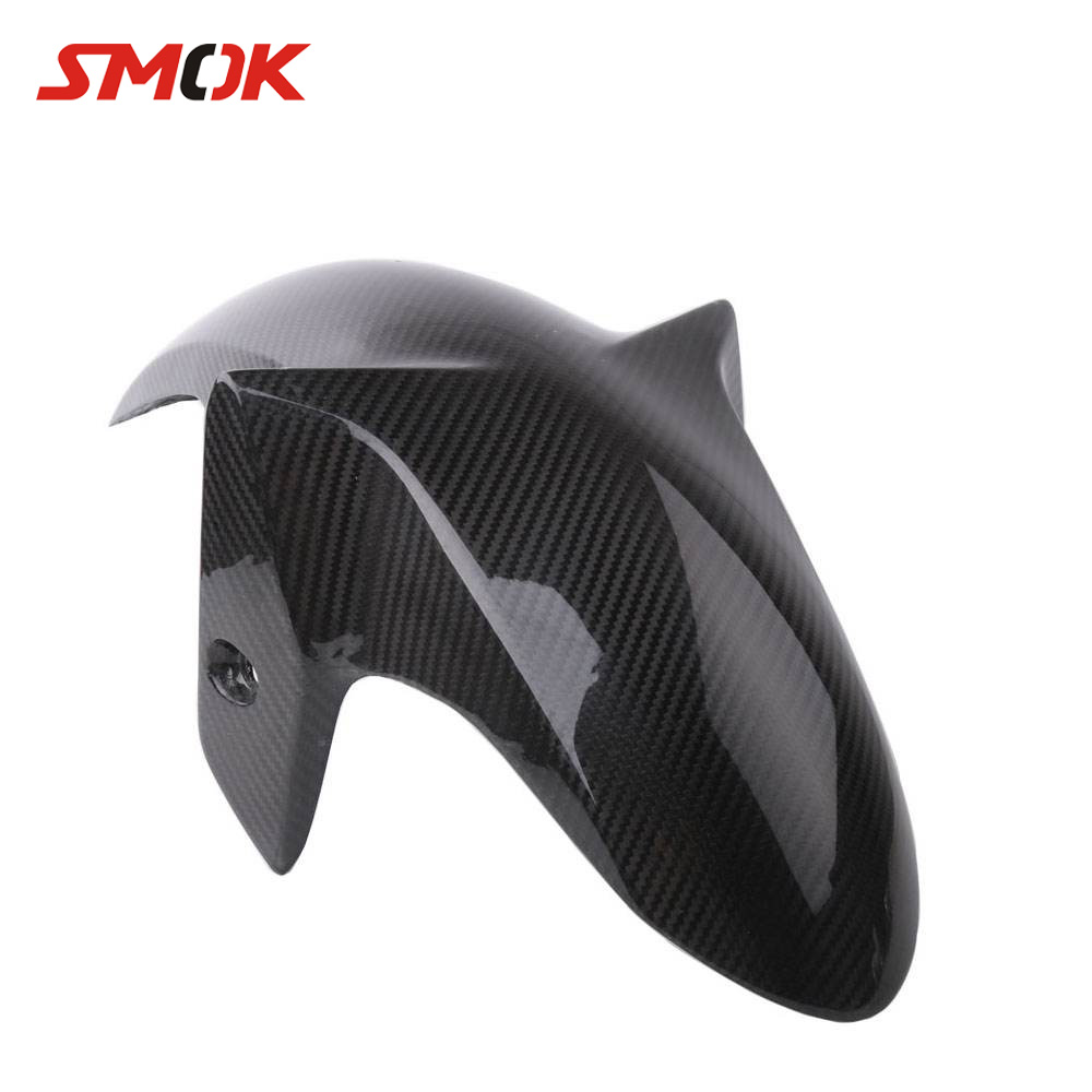 SMOK Motorcycle Pre-Preg Carbon Fiber Front Fender Splash Mud Guard Dust Mudguards For Yamaha YZF R3 R25 2016 MT03 MT-03 MT 03 for yamaha t max 530 tmax t max 530 12 16 carbon fiber front fender splash mud dust guard mudguard protection
