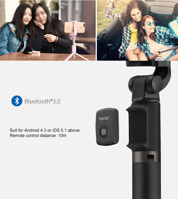 Original Huawei Selfie Stick Honor Tripod Portable Bluetooth3.0 Monopod For iOS Android Huawei Mobile phone 640mm