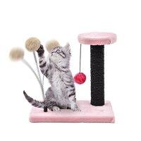 Pet Supplier Cat Scratching Post Pet Funny Climbing Tree Short Plush Soft Material For Kitten Cat