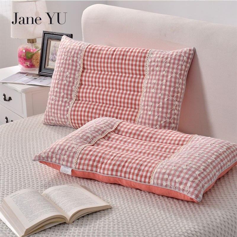 Le coton de JaneYU lave le noyau d'oreiller européen de dentelle de noyau d'oreiller vendra l'oreiller de cadeau