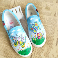 Cute Spring Autumn Children Canvas Shoes Girls Casual Shoes Students Leisure Flats Baby Loafers Kids Moccasins