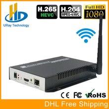 H.265 Hardware Codificador de Streaming de IPTV WiFi H265 HDMI Transmissor De Vídeo Sem Fio com Transmissão Ao Vivo do Codificador Para RTMP RTSP HLS HTTP
