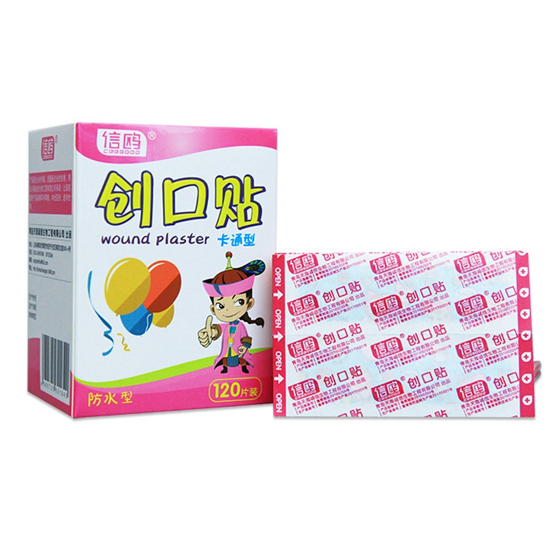 120PCs Waterproof Breathable Cute Cartoon Band Aid Hemostasis Adhesive Bandages First Aid Emergency Kit For Kids Children 2019