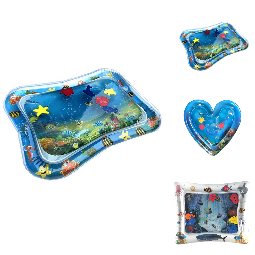 Inflatable Baby Kids Water Pad PVC Mat Outdoor Activity Party Play Splash Thicken Pat Cushion Toddler Baby Water Game Toys