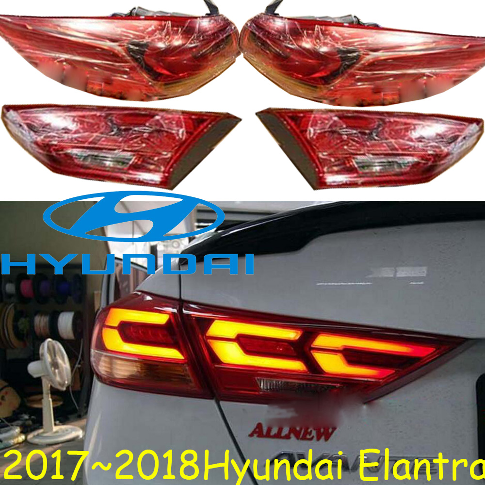 2017~2018,car-styling,Elantra Taillight,led,Free ship!Elantra fog light;car-covers,Elantra tail lamp,creta,tucson,accent,lantra