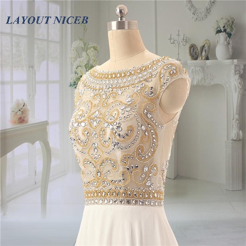 Sjajan vještački dijamant kuglice večernje haljine Scoop vratu - Haljina za posebne prigode - Foto 3