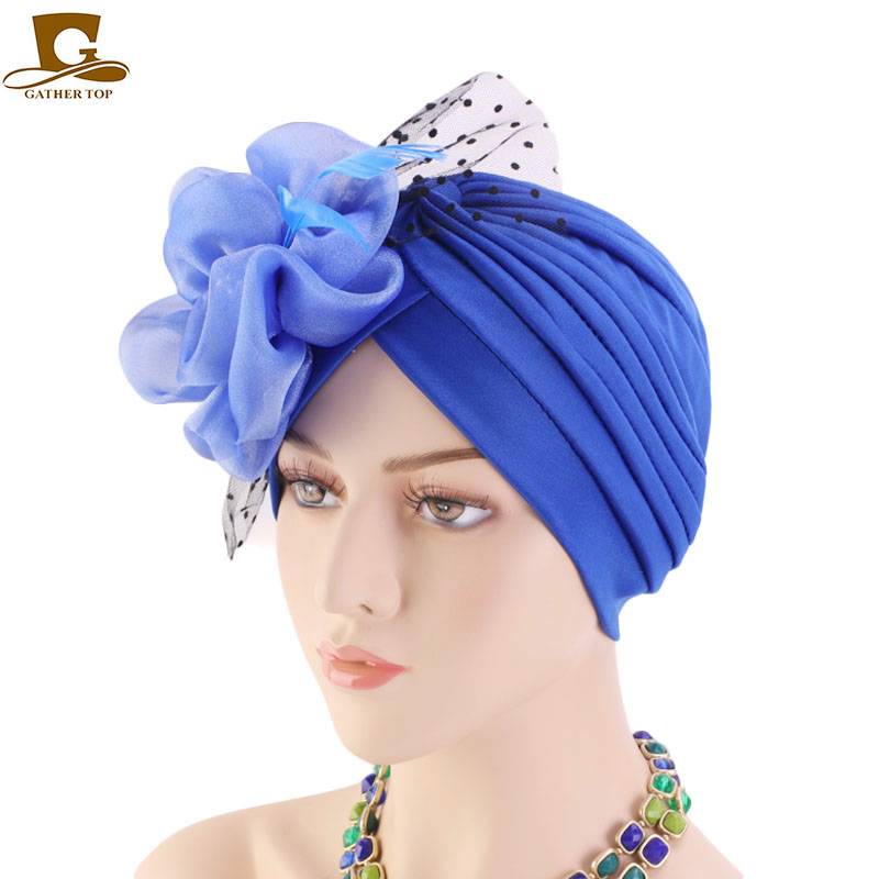 Women Church Derby Fascinator Turban Cap Bridal Tea Party Wedding Hat in Women 39 s Hair Accessories from Apparel Accessories