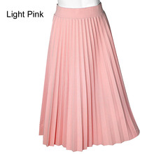 ONIBEIER Skirts Women Long High Waist Pleated Skirt