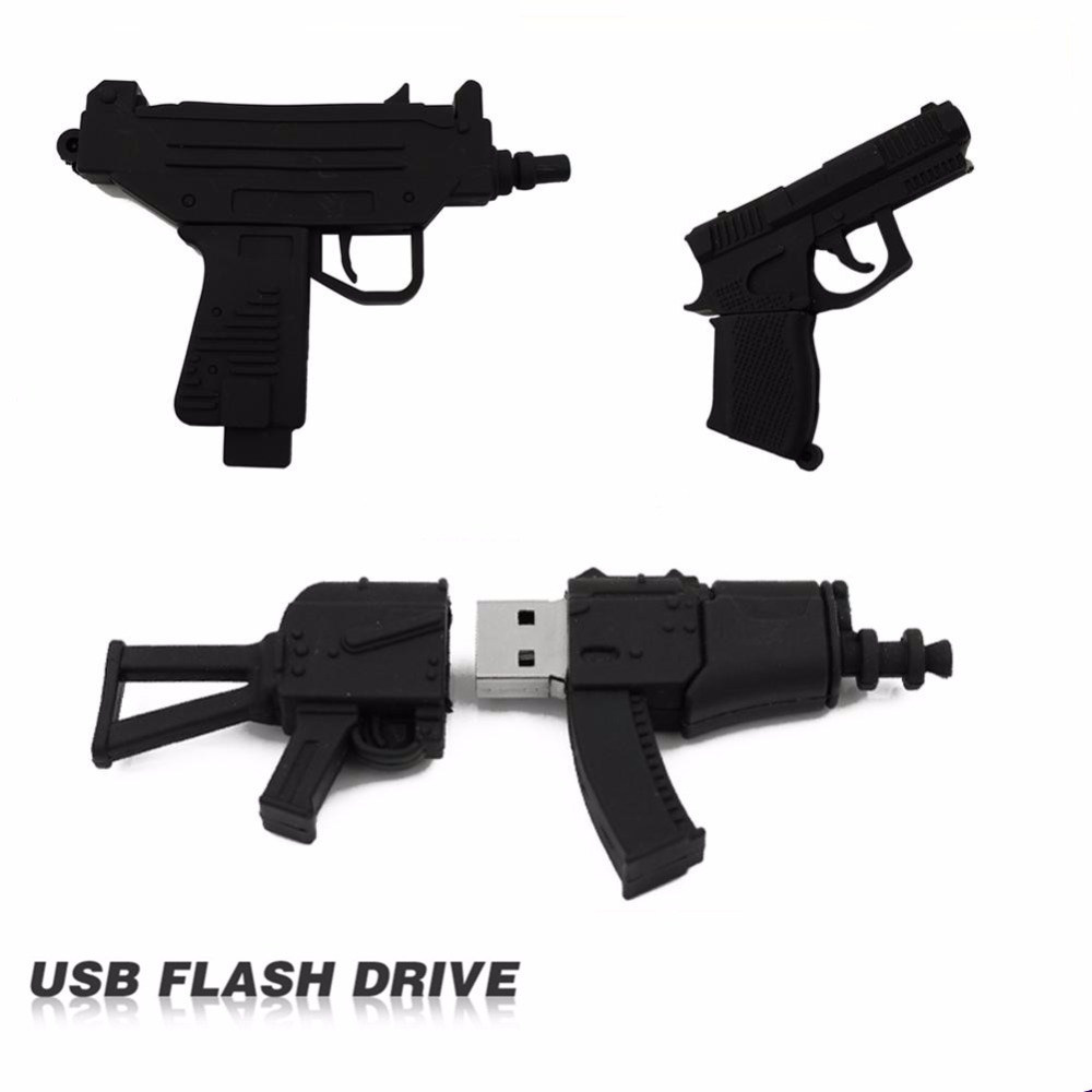 100% full usb flash drive Black Machine gun pen drive usb 2.0 flash drive U Disk pen drive 4GB 8GB 16GB 32GB memory stick elegant blue and white porcelain 8gb usb flash drive black ink ball pen wireless mouse set