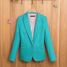 Candy-colored Women Suit Long Sleeves Coat 2018 New Fashion Jacket Blazer femme