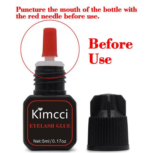 Kimcci 5ml Eyelash Glue 1-3 Seconds Fast Drying Eyelashes Extension Glue Pro Lashes Glue Black Adhesive Retention Long Last 2