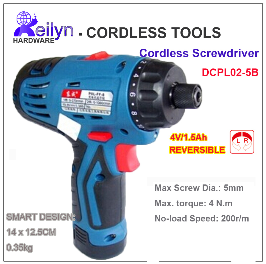 4V handheld Electronic Screwdriver Rechargeable Battery Operated Cordless Drill Household DIY tools DCPL02-5B mini small cordless electric rechargeable screwdriver 4 8v 180rpm 20pcs screwdriver bits 3pcs drill for home use diy tools
