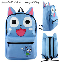 Fairy Tail Happy Backpacks Children Cartoon Canvas School Backpack for Teenagers Men Women Bag Kids Mochila Laptop Bags