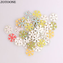 ZOTOONE Snowflake Wodden Buttons For Clothing DIY Scrapbooking Needlework Craft Sewing Christmas Wood Accessories A