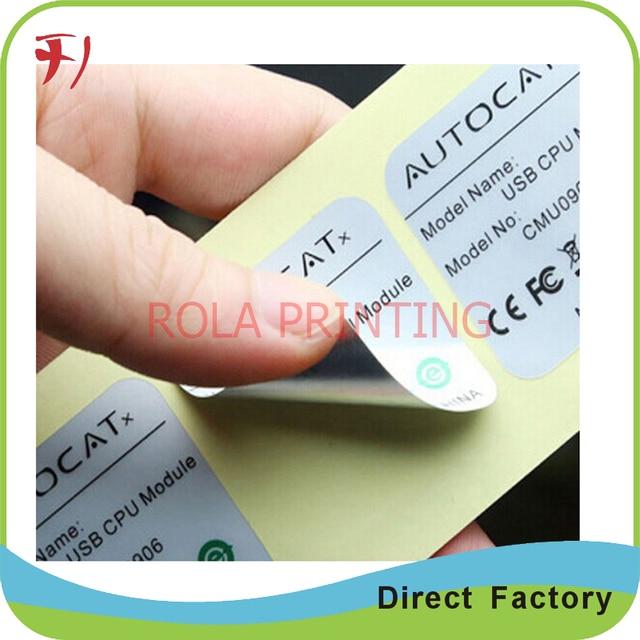 Adhesive Label Sticker Customized Vinyl Cosmetic Label
