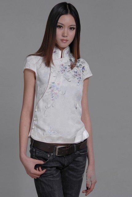de108c232 Free shipping 2012 New Oriental beauty Blouse Tang suit Asian wear ...