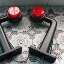 1 пара 2 ''красный 10-30 v 24 v 12 v двойной боковой резиновый стебель Боковой габаритный фонарь контурный прицеп Грузовик Автобус габаритный фонарь