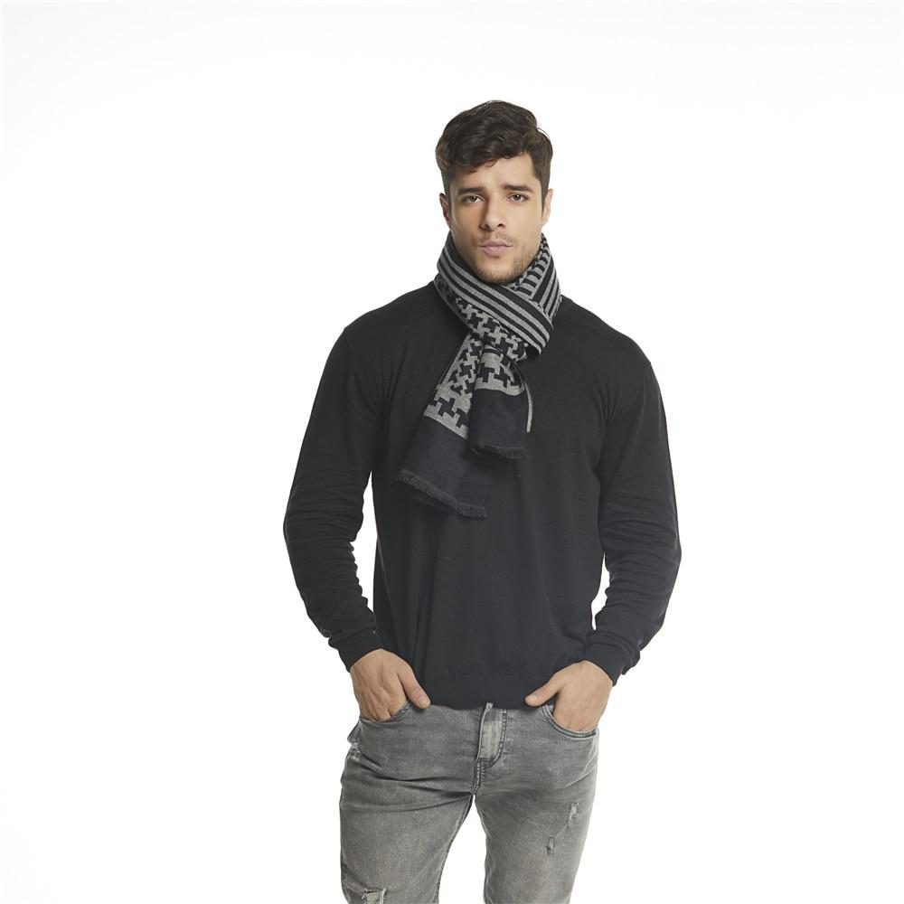 6e6915eea91 QC геометрический шарф Зимний Для мужчин Шарфы Полосатый Кашемировые Шали и  палантины шарф