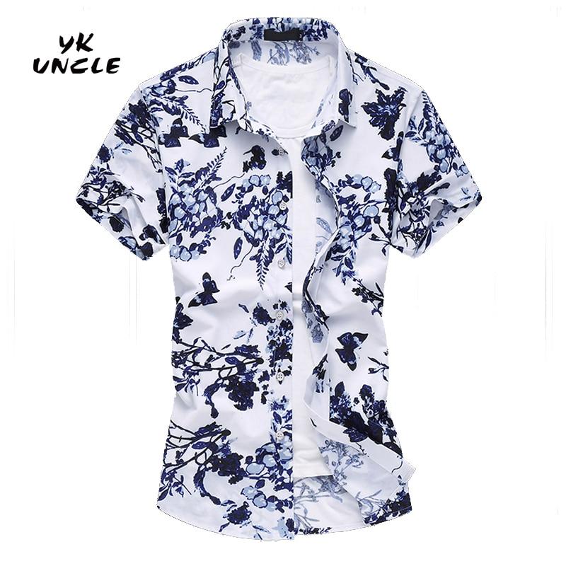 Camisa 2016 Verano de manga corta Camisa de hombre de seda con - Ropa de hombre