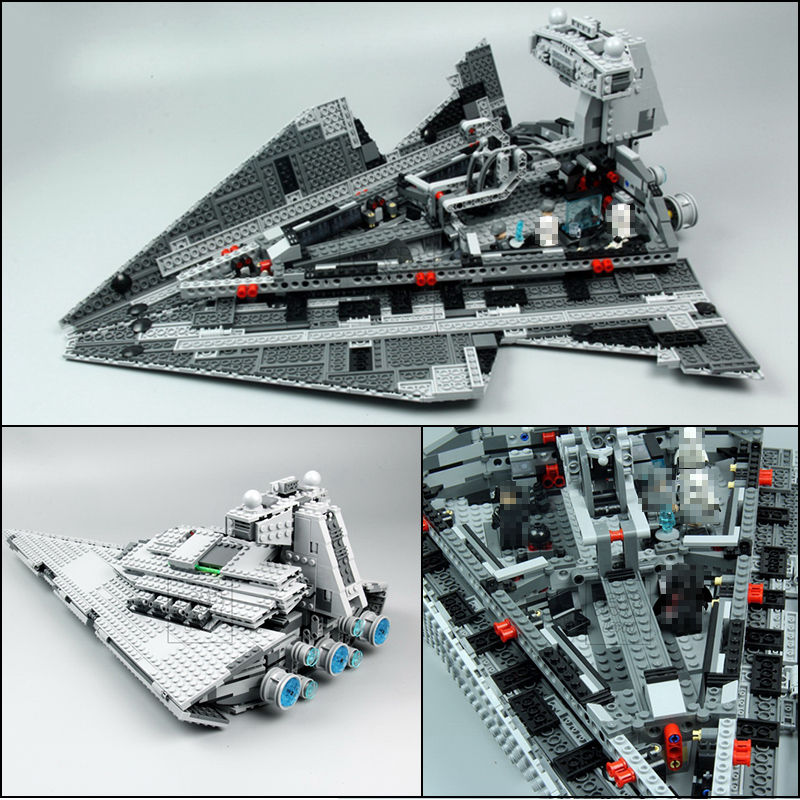 Lepin 05062 Star Series Wars The Imperial Super Star Destroyer Set Educational Building Blocks Bricks Compatible Toy Gift 75055 05028 star wars execytor super star destroyer model building kit mini block brick toy gift compatible 75055 tos lepin