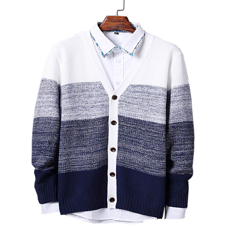 ᐂ2017 ropa de calidad superior Mens Cardigan Sweater hombres con ...