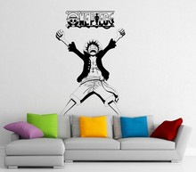 New arrival Luffy Wall Decal Vinyl Comics Japanese Anime Cartoons home decoration Waterproof removable wall stickers