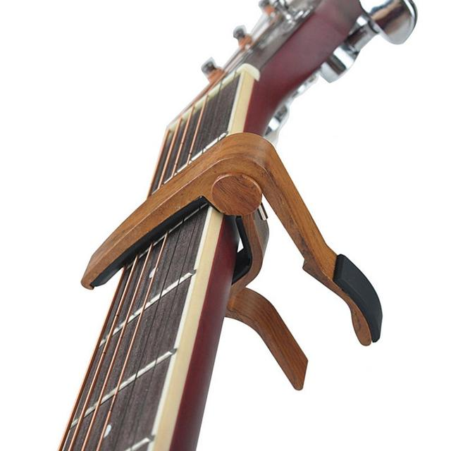 Wooden Guitar Capo with Silicone Cushion