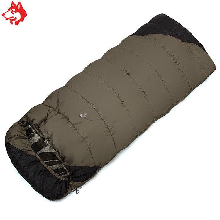 Dschungel König Winter Camping Schlafsack Tragbare Umschlag Art Schlafsack Warm-18 ° C Erweiterung Verdickung Schlafsäcke