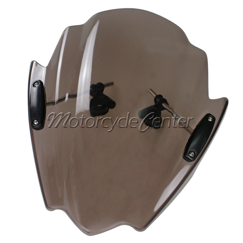 Smoke Motorcycle Street Bikes Wind Deflectors Windshield Windscreen For 2006-2014 Yamaha FZ1 FZ1N FZ6 S2 FZ8 FZ 6 8 04 05 06 07 motorcycle street bikes wind deflectors windshield windscreen for 2006 2014 yamaha fz1 fz1n fz6 s2 fz8 fz 6 8 dark smoke 08 12