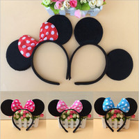 10pc Minnie Mouse And Mickey Mouse Party Supplies Headband Hair Band Kids Birthday Decorations Baby Shower