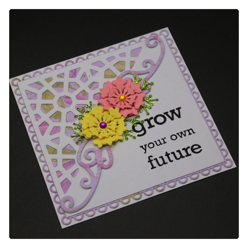 1748 Flowers Cover Scrapbook Metal Cutting Dies For Scrapbooking Stencils DIY Album Cards Decoration Embossing Folder Die Cuts in Cutting Dies from Home Garden