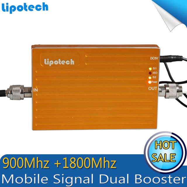 1 PCS x GSM Repetidor 900/1800 mhz dual band sinal de celular reforço GSM 900 MHz 4G 1800 MHz repetidor de sinal de telefone celular DCS amplificador