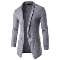 New Arrives Autumn Winter Mens Cardigans Sweaters solid Casual Clothes For Men Sweater Warm Knitwear with big pocket