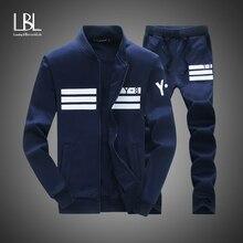 Autumn Men's Fashion Tracksuit Casual Hoodies Sportsuit Men Sweatshirts Sportswear 2 PC Zipper Coat+Pant Sets Men Brand Clothing