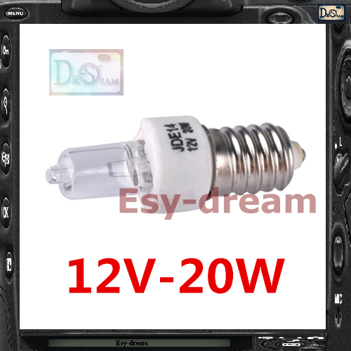 JDE14 E14 12V 20W 220V Lamp Modeling Bulb For Nicephoto FU-400 FU-<font><b>300</b></font> DF-600 <font><b>Godox</b></font> Oubao Jinbei Studio light Strobe Flash PS051 image