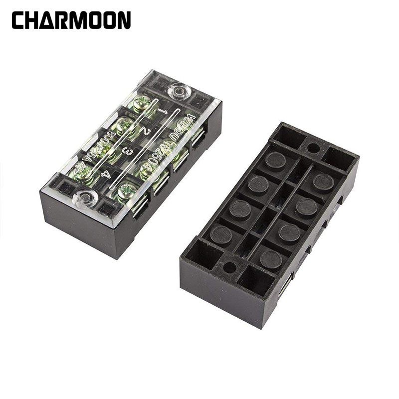 3Pcs Dual Row 4 Position 600V 15A/25A/45A Screw Terminal Electric Barrier Strip Block