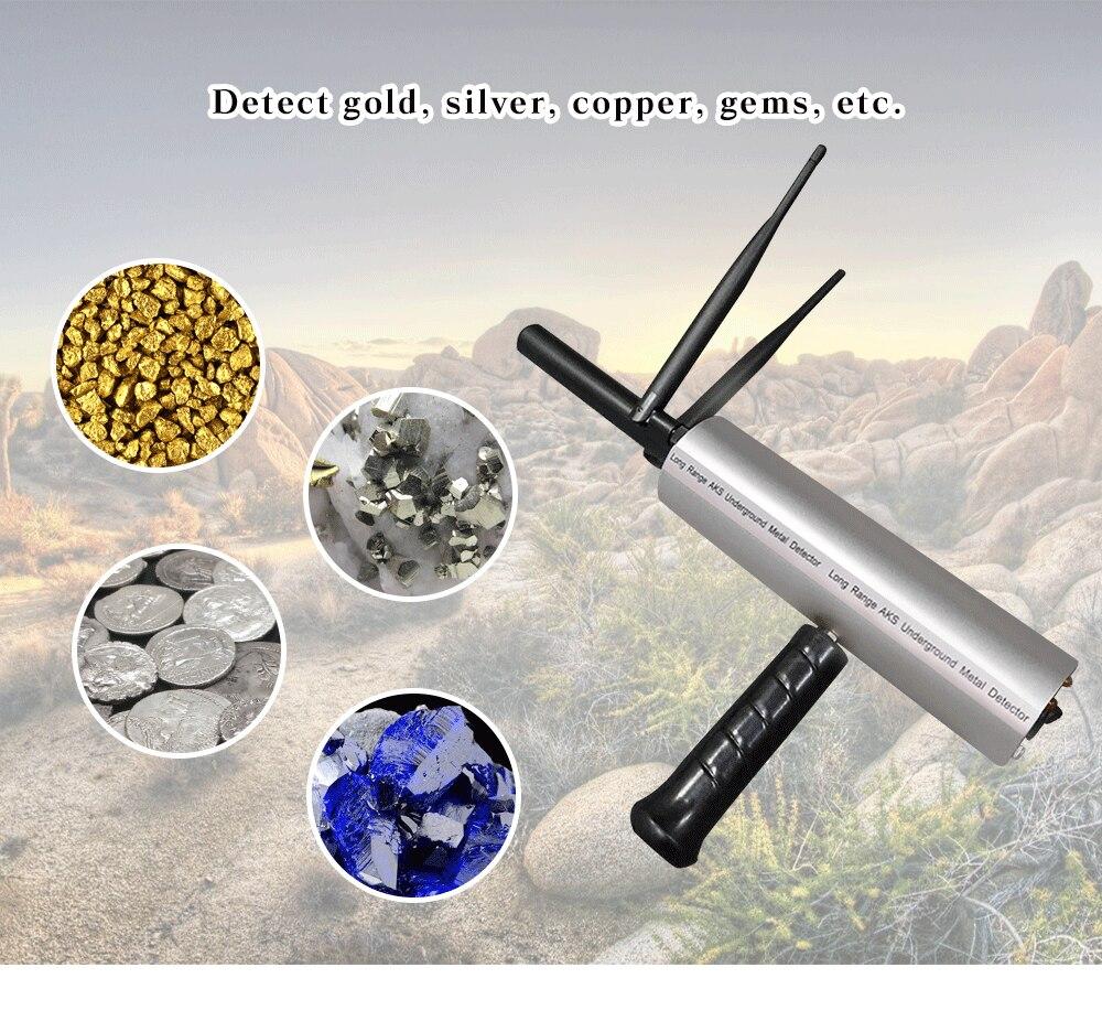 3D Underground Metal Detector Treasure Hunter Finder Gold Silver Copper  Scanner Precious Stones Tracker Seeker EU Plug