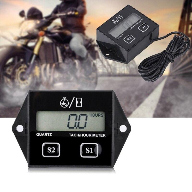 Tachym/ètre Moto Tachym/ètre Moteur num/érique Affichage num/érique Moteur 2 Temps 4 Temps Indicateur LCD de Vitesse