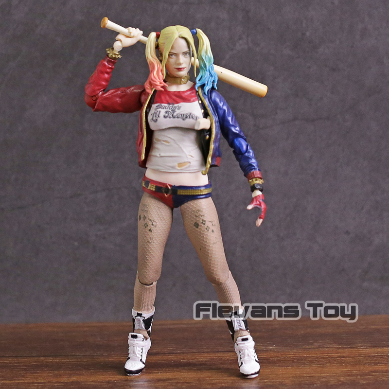 SHF S.H.Figuarts Suicide Squad Harley Quinn PVC Action Figure Collectible Model Toy suicide squad harley quinn boots bota accessories black women for harley shoes harley quinn costume cosplay suicide squad