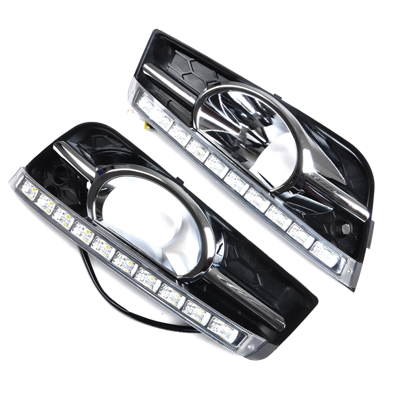 Turning Signal and dimming style Car LED DRL Daytime Running Lights For Chevrolet Cruze 2009-2013 With Fog Lamp Hole футболка quiksilver quiksilver qu192ebpew89