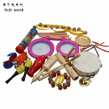 Orff World Children Percussion Instruments Eyes Drum Cylinder 16pcs Set Early Education Kids Gift Toys Set
