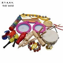 Orff World Children Percussion Instruments Eyes font b Drum b font Cylinder 16pcs Set Early Education