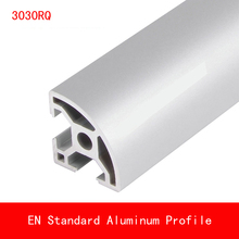 2pcs length 500mm 3030RQ Aluminium Profile EN Standard Brackets DIY Bracket AL Aluminum Extrusion Shape CNC 3D Printer