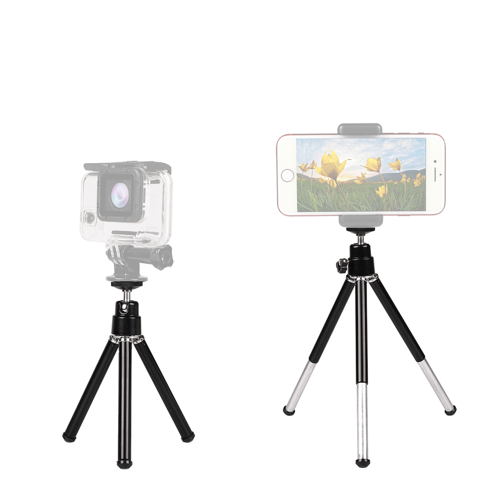 Kaliou Mobile Phone Mini Tripod Stand Monopod Tripods for Gopro 7 6 5 4 3 2 1 Iphone 8 Samsung Cell Xiaomihuawei