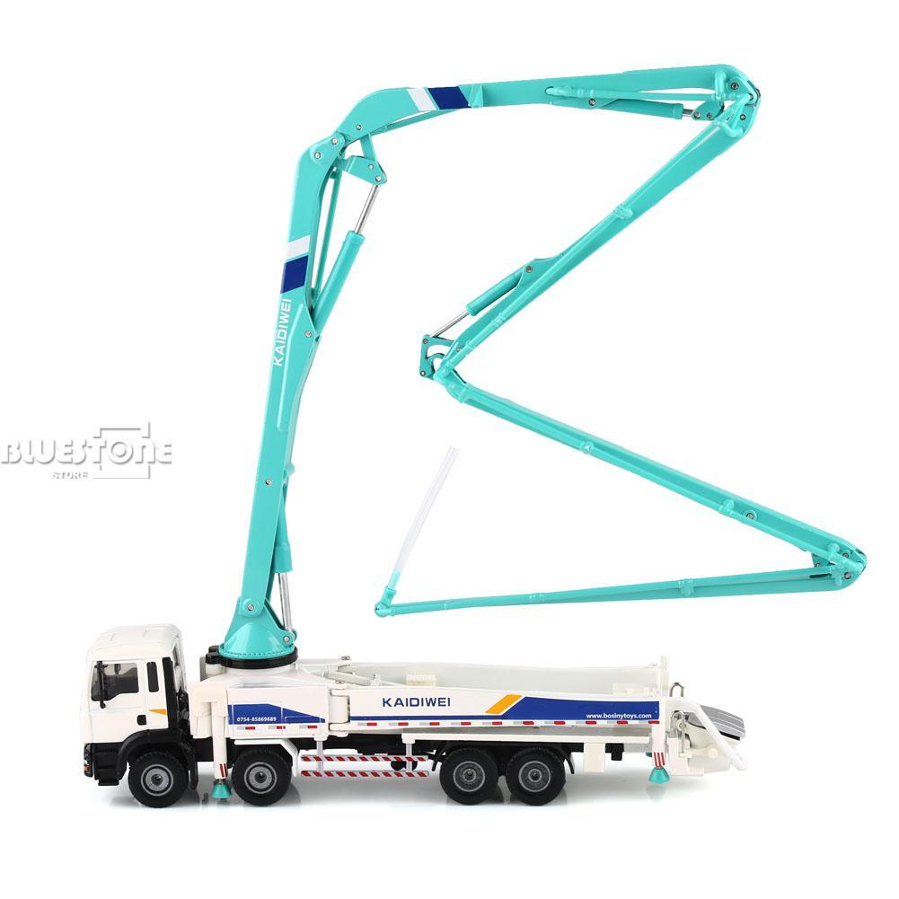 KAIDIWEI 1/55 Scale Diecast Concrete Pump Truck Construction Equipment Model