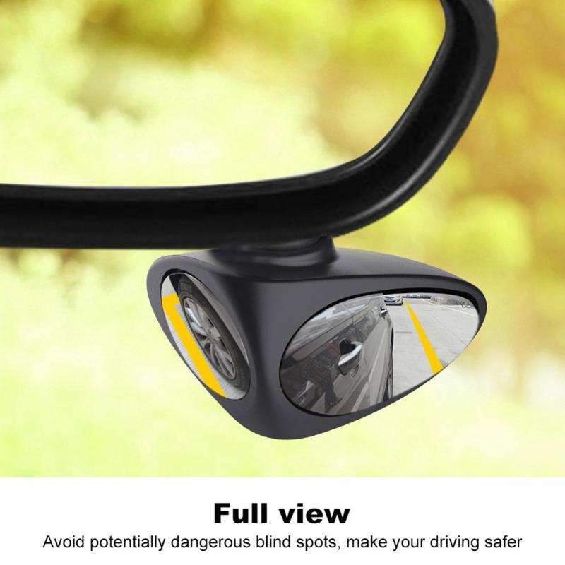 2 in 1 Car Blind Spot Mirror 360 Rotation Adjustable Convex Wide Angle Rear View Mirror Front Wheel Rear View Car Mirror car clip on rear view mirror convex mirror driving safety universal wide angle rear view mirror auto car interior mirrors