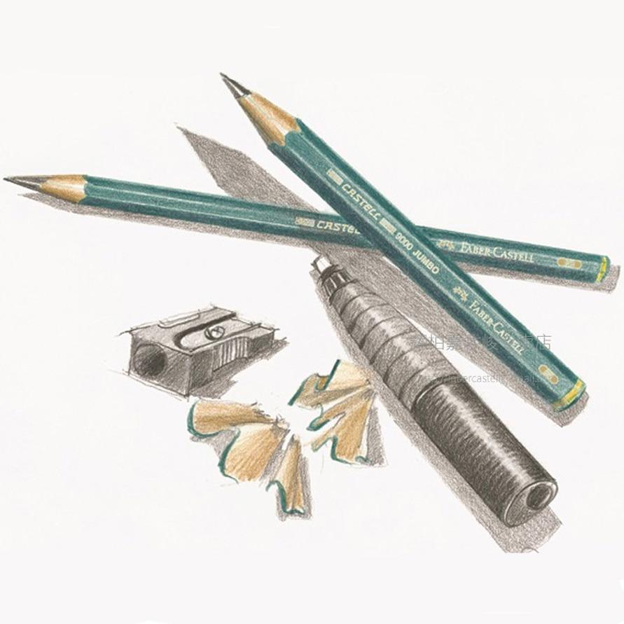 Lápis Comuns desenho grafite 5 pcs/6 pçs/lote Modelo Número : Faber-castell 9000 Jumbo