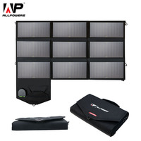 ALLPOWERS Portable 5V 12V 18V 60W USB Solar Cells Panel Power Bank Camping Folding Solar Charger for iPhone Mobile Phone Laptop